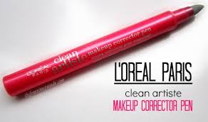l oreal paris clean artiste makeup corrector pen review swatches