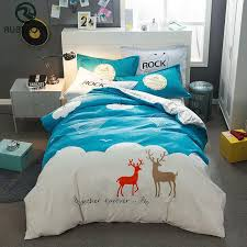 high quality cartoon style sanding polyester cotton bedding set king size duvet cover bed sheet pillowcase duvet cover set king full size bedding set from
