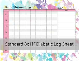 blood glucose log sheets diabetic glucose log sheet printable pdf