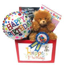 baby s first birthday gift basket