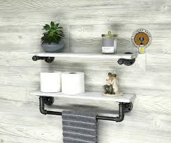 whitewash 5 5 deep towel bar with shelf