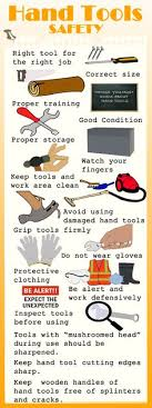 hand tool safety posters. hand tools can cause injuries because of the wrong and damaged tools. baby infographicinfographicssafety slogansindustrial tool safety posters 2