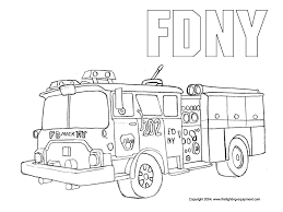 Small Picture FDNY Fire Truck coloring pages free printable Enjoy Coloring