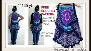 Free Crochet Vest Patterns Fascinating MANDALA BOHEMIAN CROCHET VEST Gypsy Vest Sweaters Tops Free