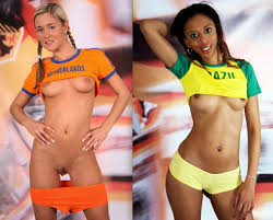 Naked girls play sports
