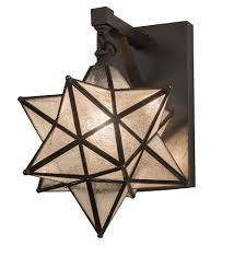 9 wide moravian star hanging wall sconce
