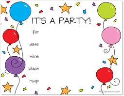Kids Invitations Colorful Balloons Kids Fill In Invitations Myexpression 18462