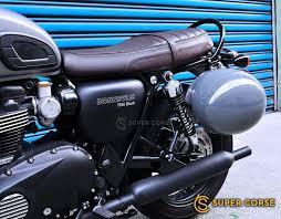 triumph street twin bonneville t100 t120 helmet lock mounting rack helmet lock ebay
