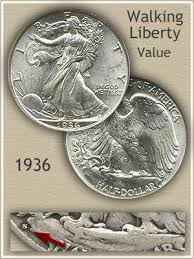 1935 Silver Half Dollar Value Chart 1936 Half Dollar Value Discover Their Worth