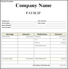 Payroll Template Word Free Wage Slip Template Word Uk Psychicnights Co