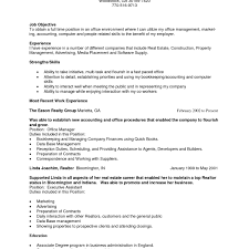 Real Estate Resume Examples Magnificent Full Time Real Estate Agent