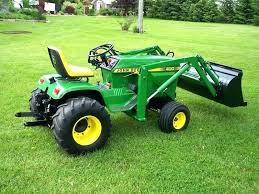 used garden tractor attachments loader for john with lawn and homemade front sears vintage