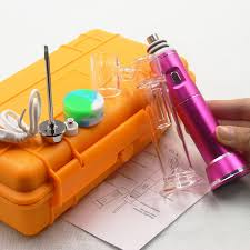 enail portable g9 wax pen henail dab rig with anium nail gl bubble water bong kits