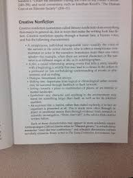 quinzi ms english 11 advanced placement language composition creative non fiction defined