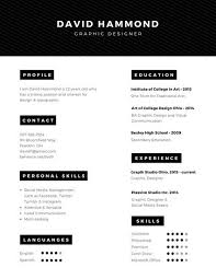 Graphic Resume Templates Customize 298+ Professional Resume templates online - Canva