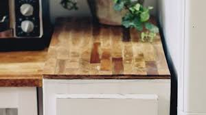 build a diy butcher block countertop with plywood and paint sticks