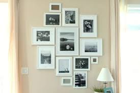 picture frames on wall. Photo Arrangement Picture Frames On Wall