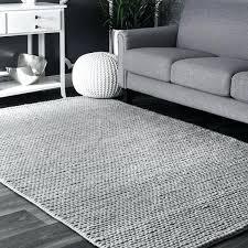 handmade casual braided wool grey rug x nuloom rzbd40a sarina diamonds area