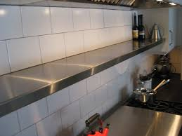 Stainless Shelves Kitchen I Love The Long Stainless Shelf Above My Range More Kitchen