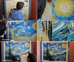 starry night by vincent van gogh painting reion process of painting step by