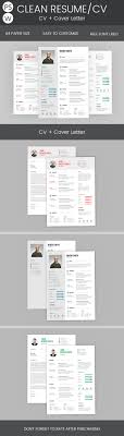 Clean Resume Cover Letter Bundle Resume Cover Letters And