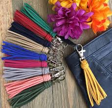 purse charm tassel bag charm 3 5 mini faux suede image