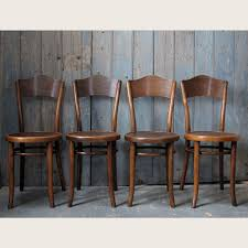four vintage bentwood chairs