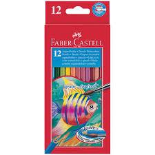 <b>Акварельные карандаши 12</b> цветов + кисть, Рыбки (Fish Design ...