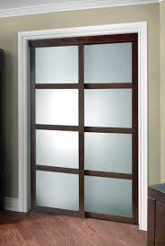colonial elegance fusion plus framed frosted glass sliding door at menards