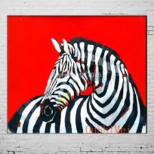 new paintings hand painted acrylic paintings on canvas modern zebra painting hang pictures wall abstract animals oil picture in painting calligraphy from