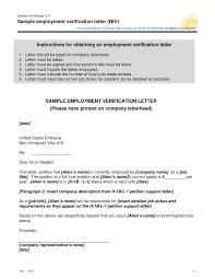 Employment Verification Letter Format For Us Visa Projectspyral Com
