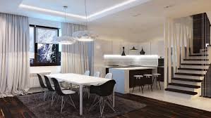modern kitchen black and white. Modern Kitchen Black And White With Cabinets Counter Tops Floor Is In Kitchens