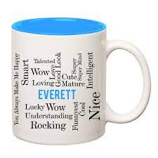 Buy Everett Good Personality White Ceramic Coffee Name Mug Online at Low  Prices in India - Amazon.in