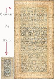 the difference between a rug and a carpet