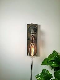 rustic sconce wall lamp