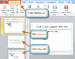 Design Slides For Powerpoint 2010 Powerpoint 2010 Slide Master View