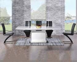high gloss extending dining table