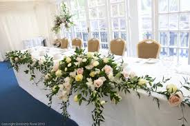 top table decoration ideas. Engaging Image Of Dining Table Decoration Using Light Brown Burlap Chair Including Pink Rose Flower Top Arrangement Centerpiece And Blue Ideas D