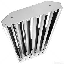 6 lamp t5 f54t5 ho fluorescent high bay hb 6 t5 6 lamp fluorescent industrial high bay image