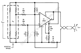 4 20ma current loop bridge sensor transmitter simple circuit diagram transmitter for bridge sensor circuit schematic diagram