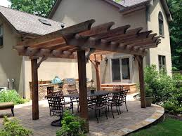 how to build a pergola over paver patio ideas