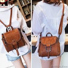 elegant multi function leather small messenger bag shoulder bag mini backpack