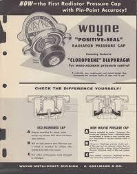Wayne Positive Seal Radiator Pressure Cap Catalog App