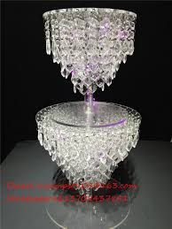acrylic crystal wedding chandelier cake stand acrylic pertaining to contemporary home chandelier cake stands plan