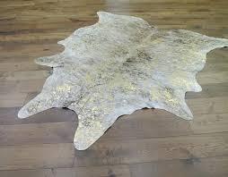 gold cowhide rug gold metallic hair on cowhide rug metallic faux cowhide rug
