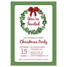 Christmas Invitation Ideas Free Pr Unique Free Christmas Party Invitation Borders Birthday
