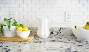 Tile Backsplashes With Granite Countertops Gorgeous How To Install A Subway Tile Kitchen Backsplash Young House Love