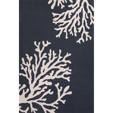 jaipur rugs grant bough out 7 6 x 9 6 indoor outdoor rug blue ivory