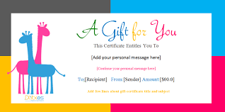 Birthday Gift Certificate Templates For Girls And Boys