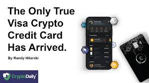 This should have been a quick. The Only True Visa Crypto Credit Card Has Arrived Titulares Noticias Coinmarketcap